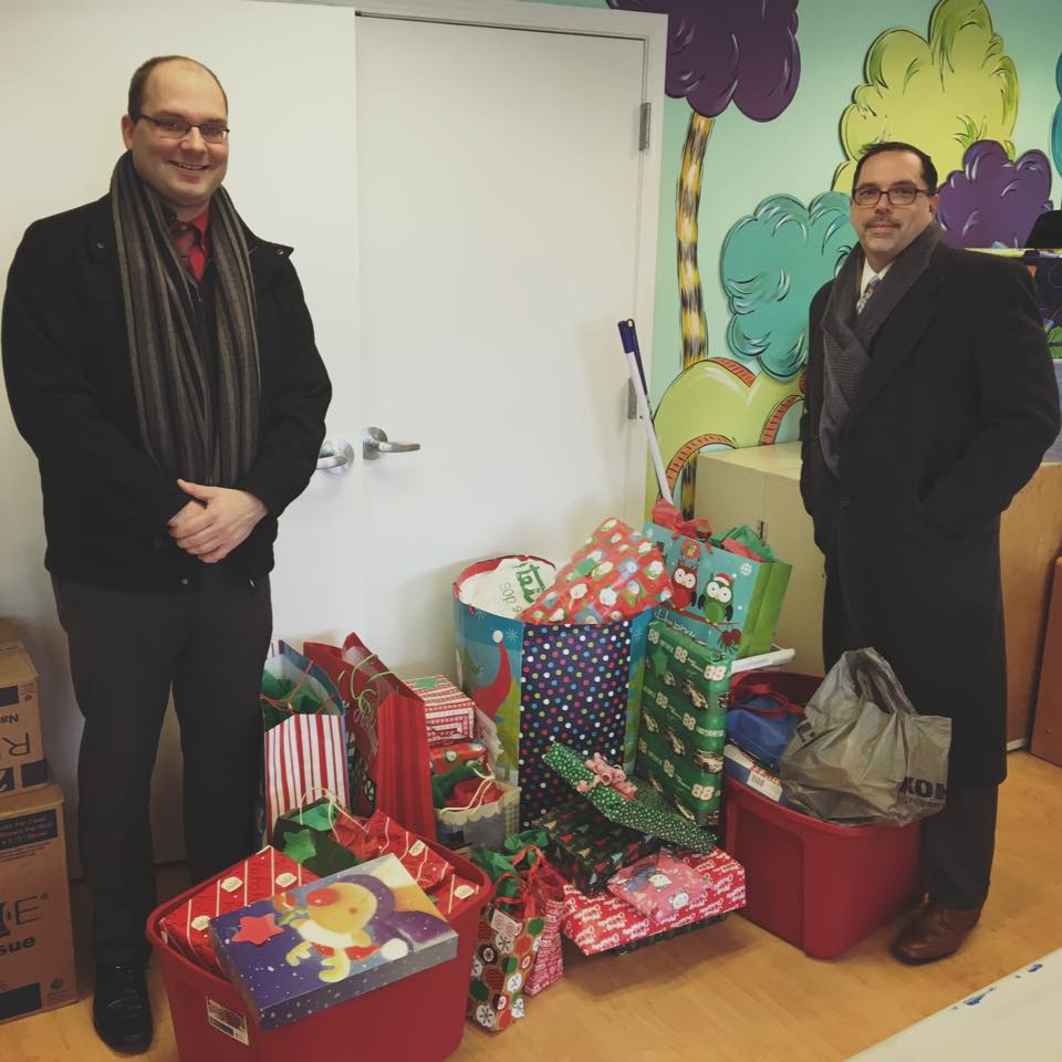 "The Northside Kiwanis Club adopted an Ark family as part of the ""Ark Christmas Adoption Program"", providing the family with gifts, clothing, household items and more. Their generosity brought Christmas joy to a family in need."