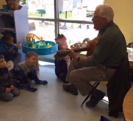 "Mr. Pitts volunteers once a month by stopping by Ark to play his guitar during an ""in-house adventure"". Since Ark children do not go on field trips, special volunteers, like Mr. Pitts, bring the field trips to Ark."