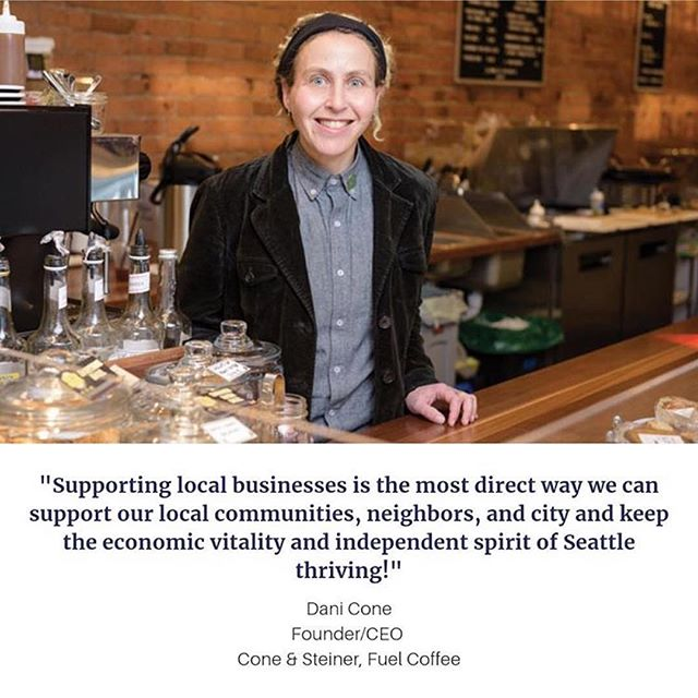 """""""Supporting local businesses is the most direct way we can support our local communities, neighbors, and city and keep the economic vitality and independent spirit of Seattle thriving!"""" . . Check out Dani's (and more!) #onmyintentionallist picks via the @intentionalist_  page. . . #shopconeandsteiner #seattle #capitolhill #pioneersquare #downtown #shoplocal #shopsmall #localvore #goodneighborsgoodfood #beintentional #supportwomenowned #intentionalist #inclusiveeconomy"""