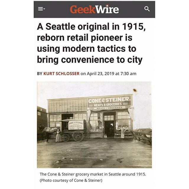"""""""Retail is not dead,"""" says C&S owner, Dani Cone. Read the article in @geekwire today! 😎 . . #geekwire #shopconeandsteiner #seattle #capitolhill #pioneersquare #downtown #shoplocal #shopsmall #localvore #goodneighborsgoodfood #productoftheday #orderonline #delivery #togo #pickup #instore"""