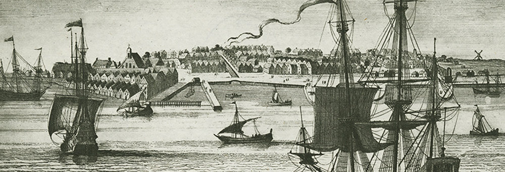 Arrival in New Amsterdam (Stokes, pl. 15)