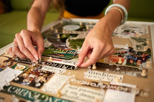 A dreamboard is  a visual representation of your desires.  This special dreamboard workshop is tailored specifically to reaching your  ultimate health and wellness.