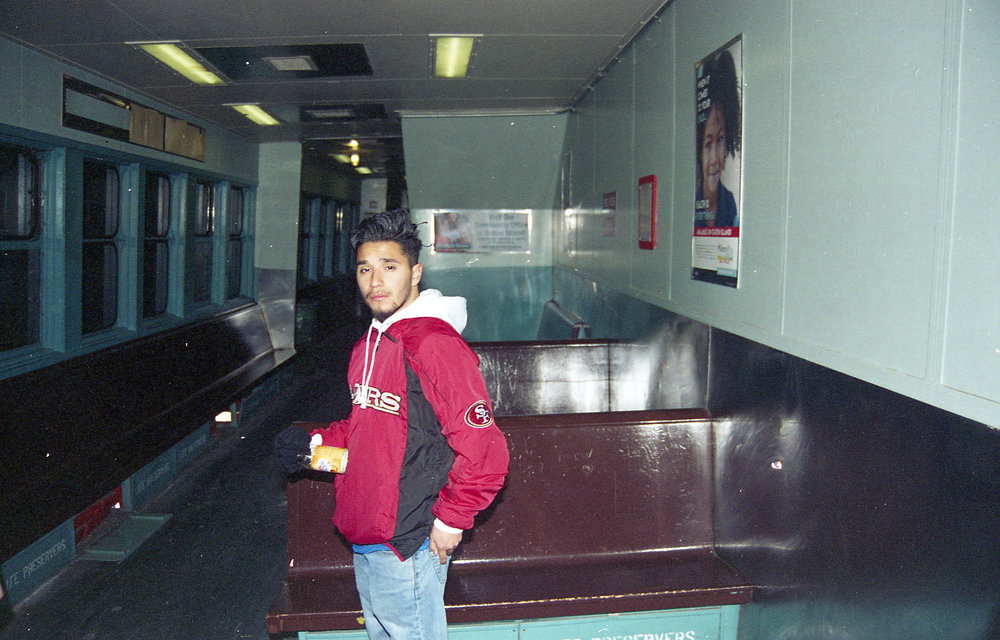 Carlos on the Staten Island Ferry