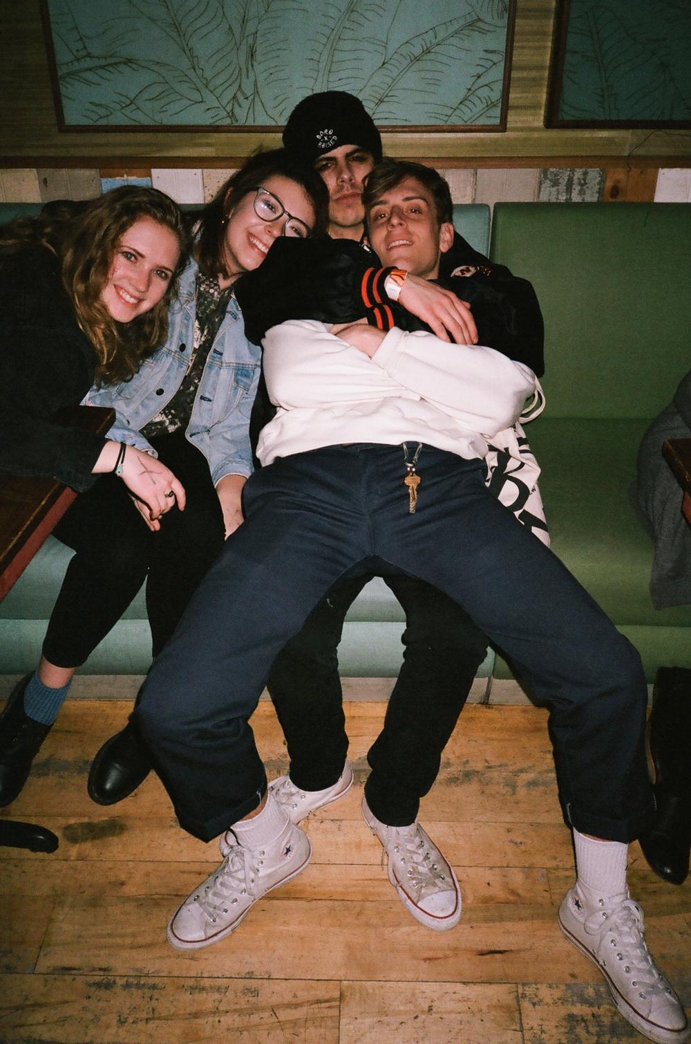 Bre, Rachel, Julian & Renny: White Cons