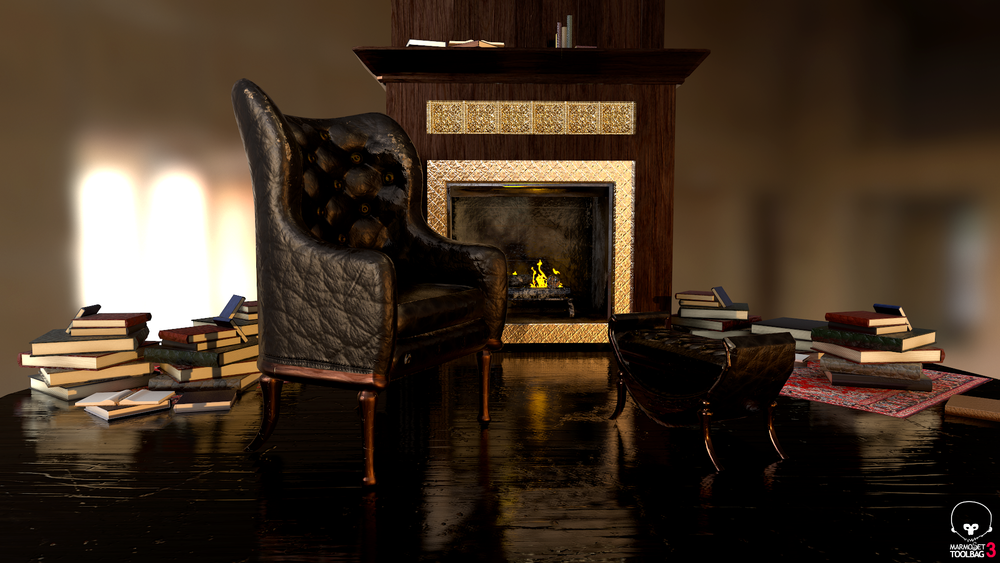 Antique chair and ottoman -
