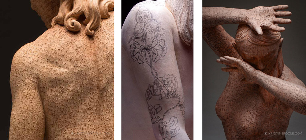 "Kristine Poole, details from the ""Epic"" and ""Bound"" series"