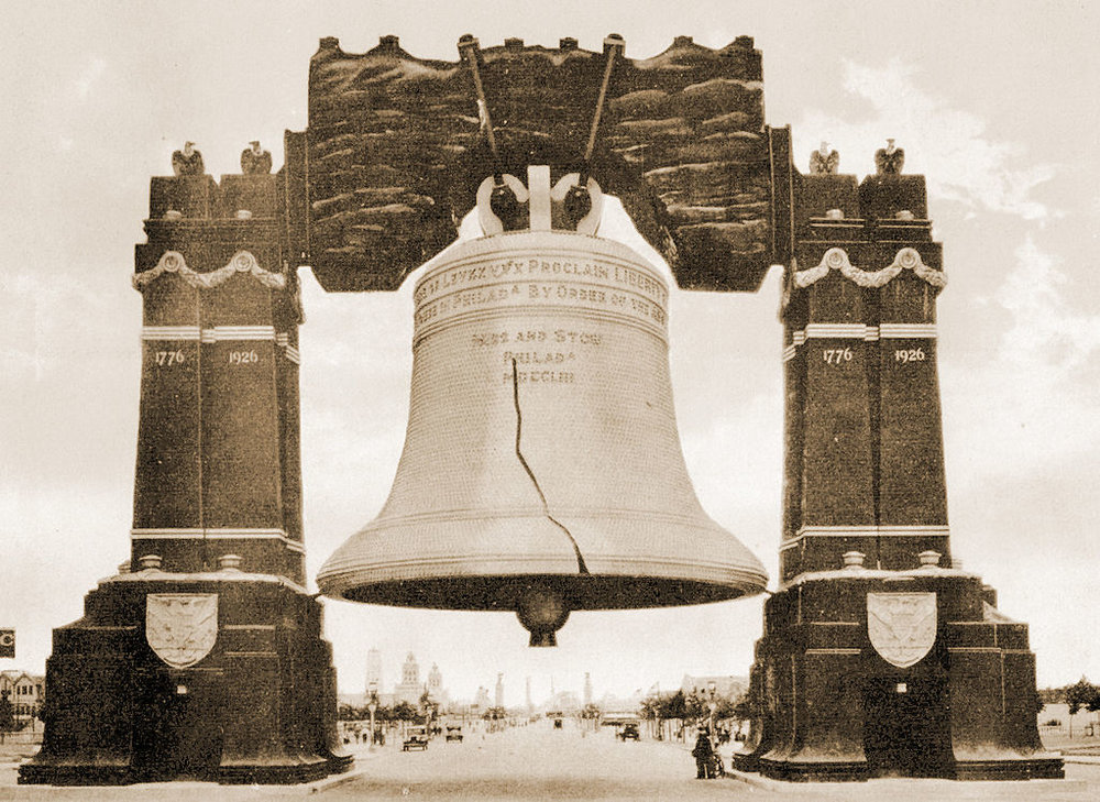 "The Luminous Liberty Bell  John D. Cardinell (Official Photographer and Publisher) 1926.  ""The Cooper Collections "" (uploader's private collection) public domain. Digitized by  Centpacrr"