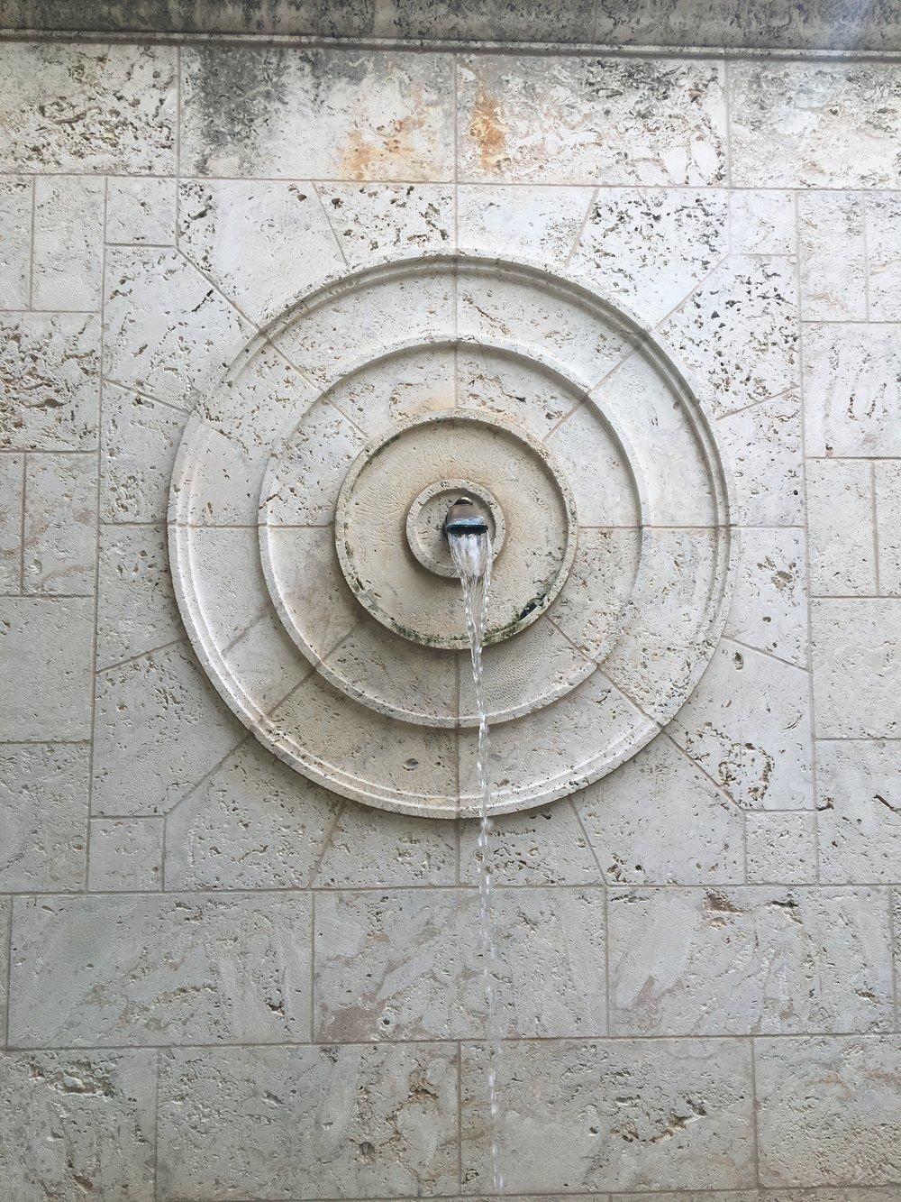 Detail of original fountain