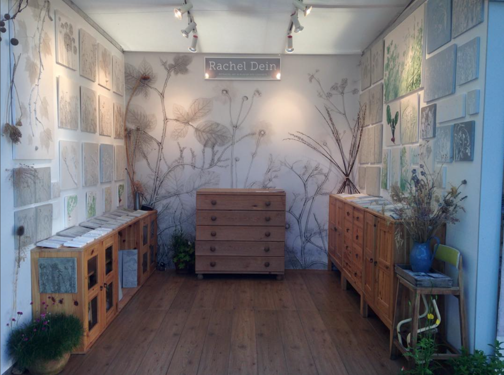Here's another example of the Area Environments wallpaper being used in Rachel's booth at the Chelsea Flower show. (Congratulations, Rachel! So exciting!) Photo courtesy of the artist.