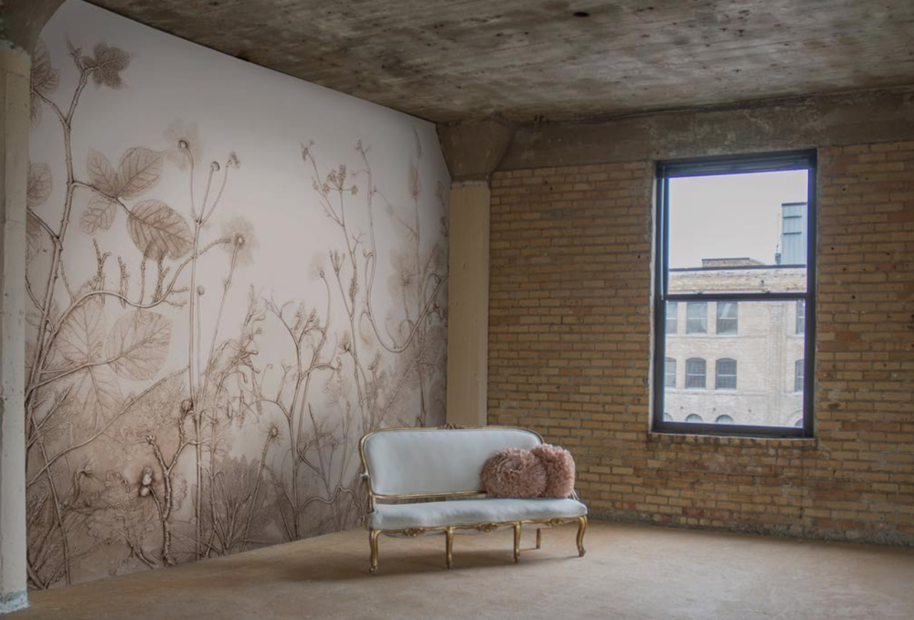 Late Summer  wallpaper by Area Environments. Photo courtesy of the artist.