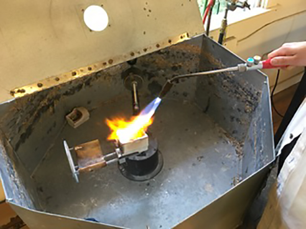 Centrifugal casting. Photo courtesy of Mary Hallam Pearse.