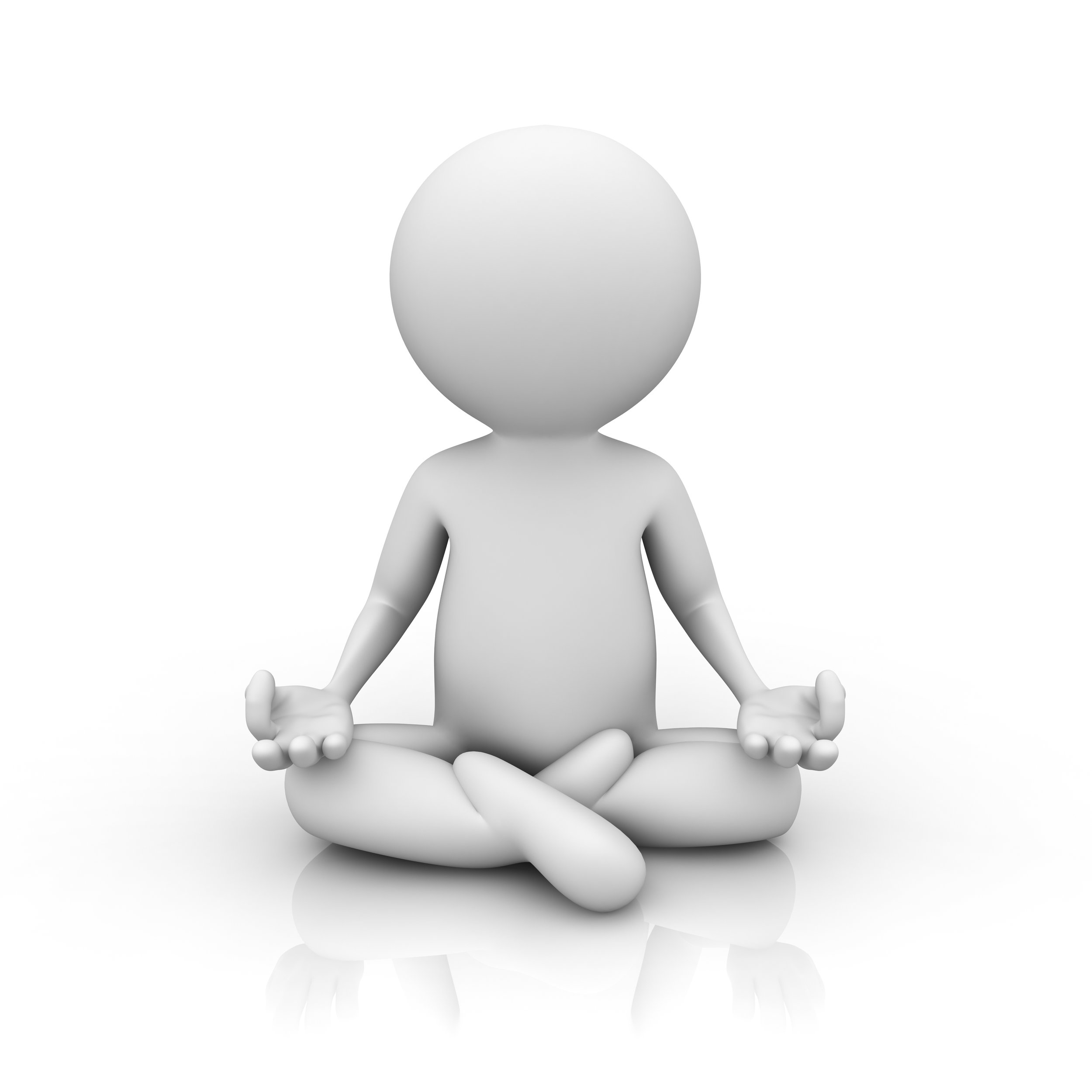 3D Man Meditating