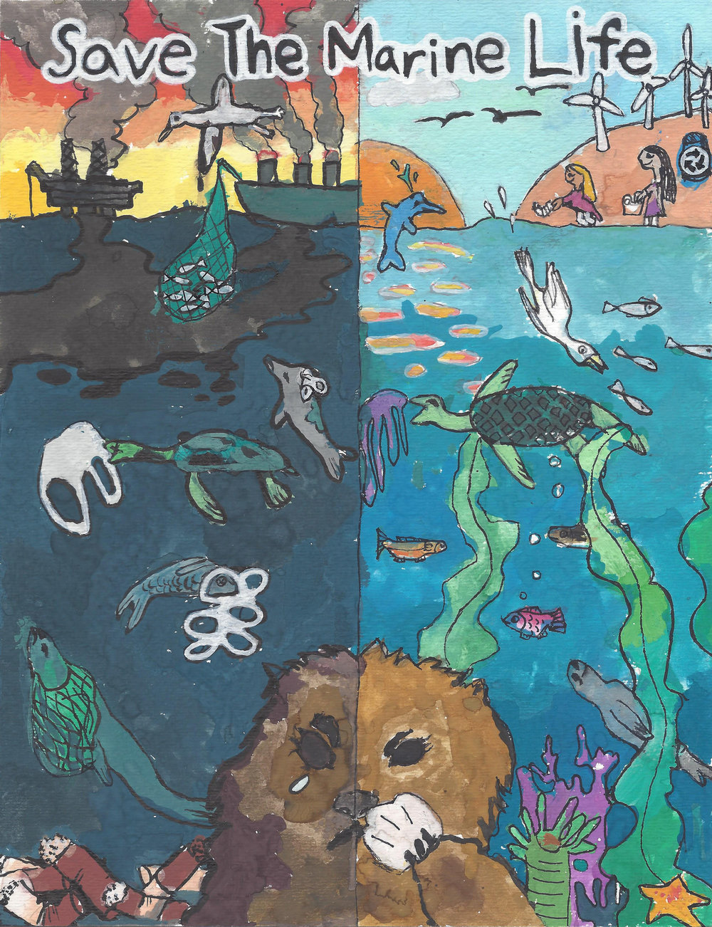 Grand Prize Winner:   Save The Marine Life, by Yoltzin Delgado