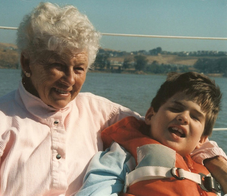 Betty Webster with grandson, Adam