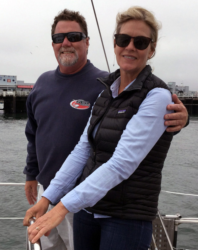 OSO Captain, Tim O'Neill, with Santa Cruz Harbor Port Director, Marian Olin