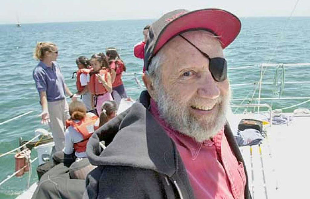 Jack onboard with O'Neill Sea Odyssey. Photo courtesy of Chronicle / Penni Gladstone