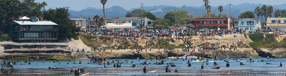 July 9, 2017 Memorial Paddle-Out, Pleasure Point, California. Photo courtesy of Nikki Brooks