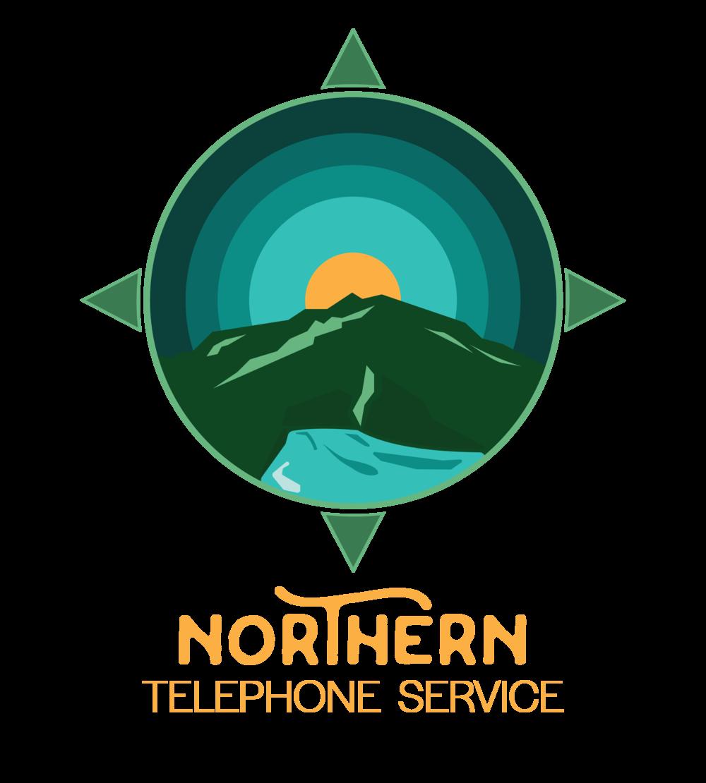 mountain logo compass