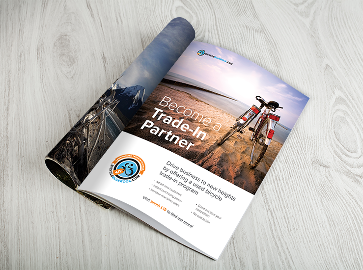 We created a branded ad that was in the guide for Interbike 2016.