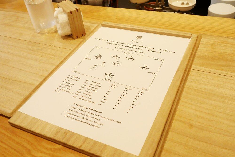 Tokyo Saryo tea map