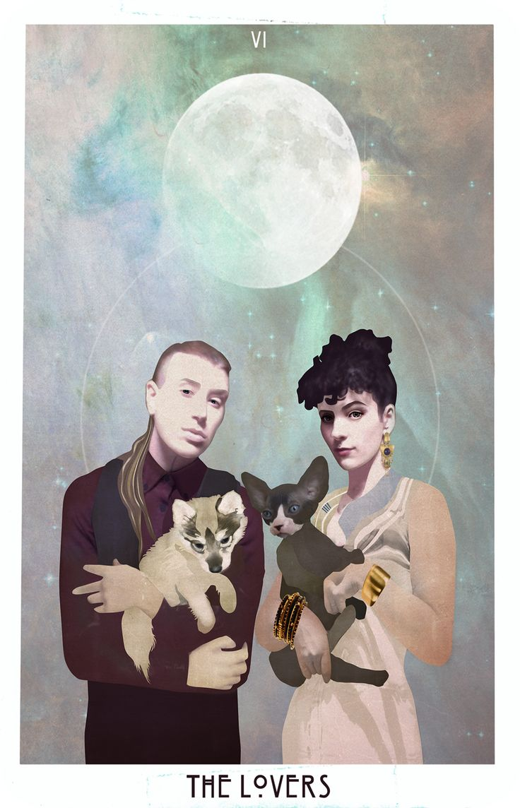 The Lovers, the card in the Starchild tarot chosen to represent Gemini