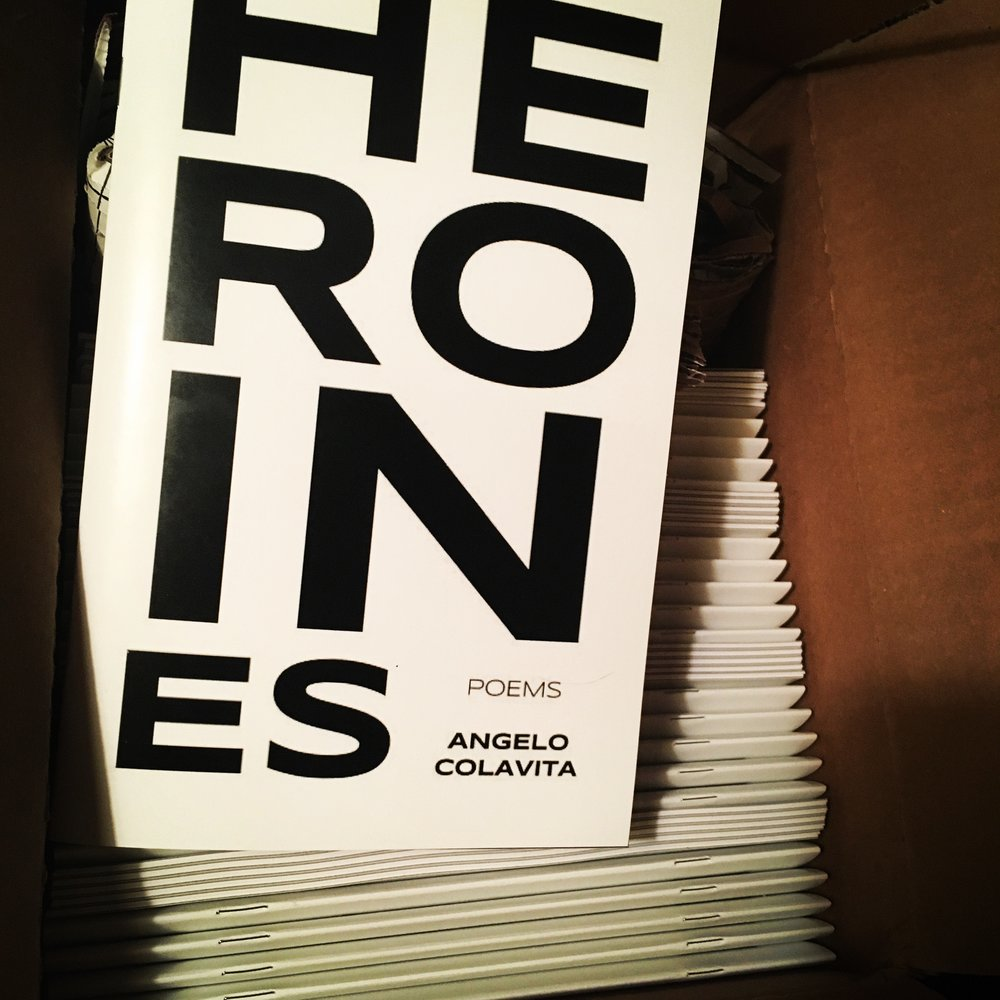 "The unboxing of   Angelo Colavita  's ""HEROINes"". Courtesy of Fireball Printing."
