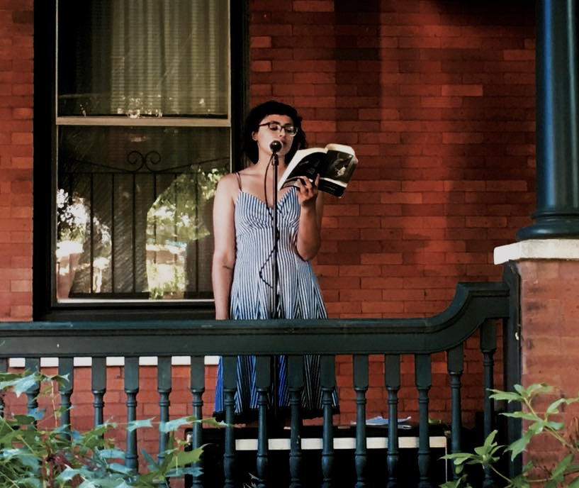 Maryan Nagy Captan   reads from  The Book of Disquiet , by Fernando Pessoa at PORCH POETS @ West Philly Porchfest 2017