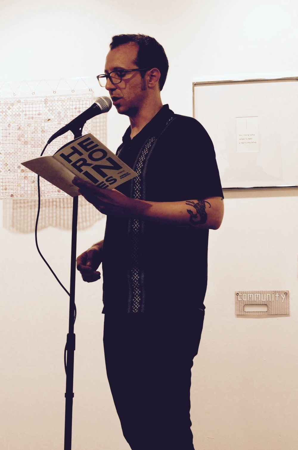 Empty Set Press founding editor, Angelo Colavita, reads from   HEROINes   at the  Copy/Body  release party. 6/17/2017