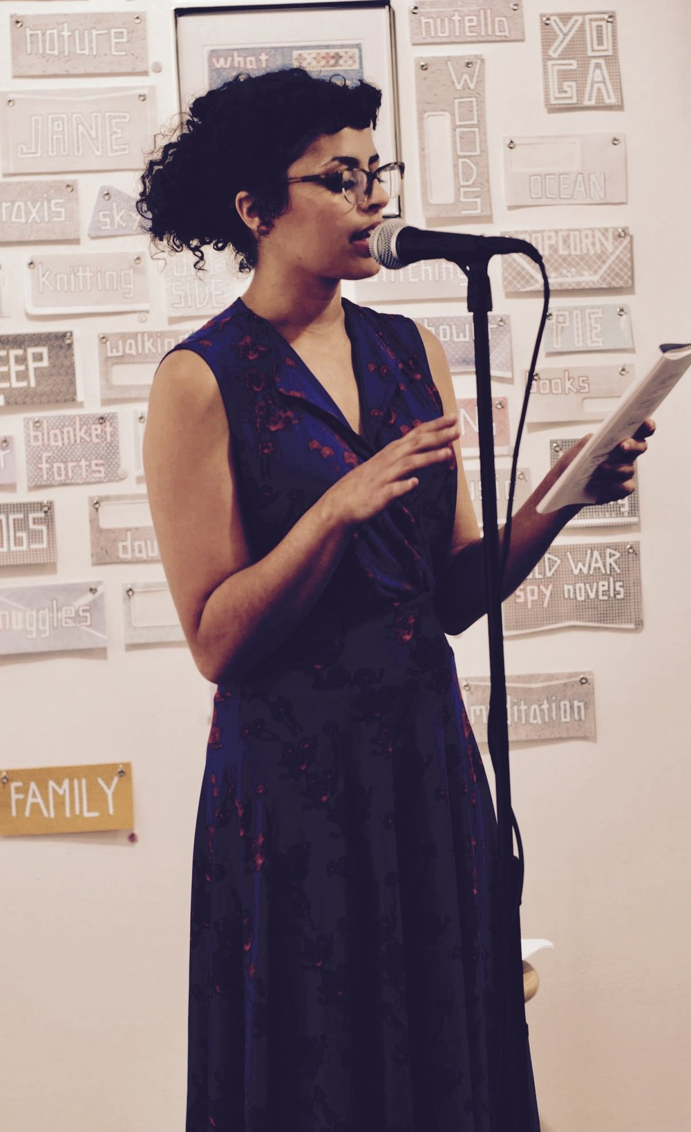 Maryan Nagy Captan reads from   Copy/Body   at the Empty Set Launch Party. 6/17/2017