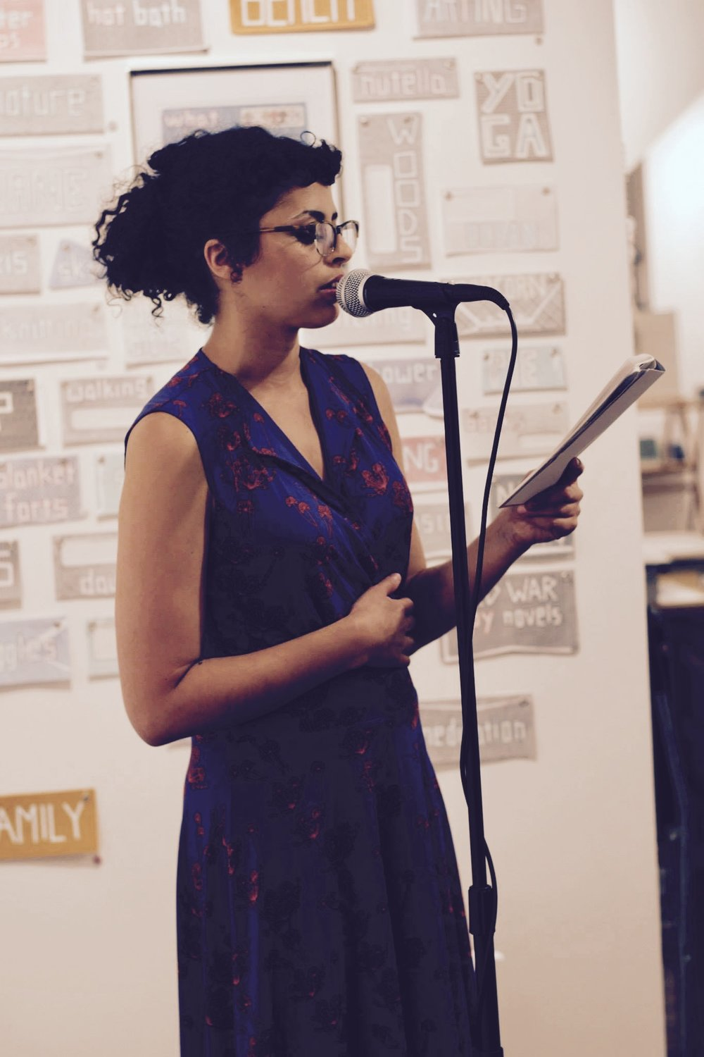 Maryan performing at the   Copy/Body   book release party at Paradigm Gallery. 6/17/2017