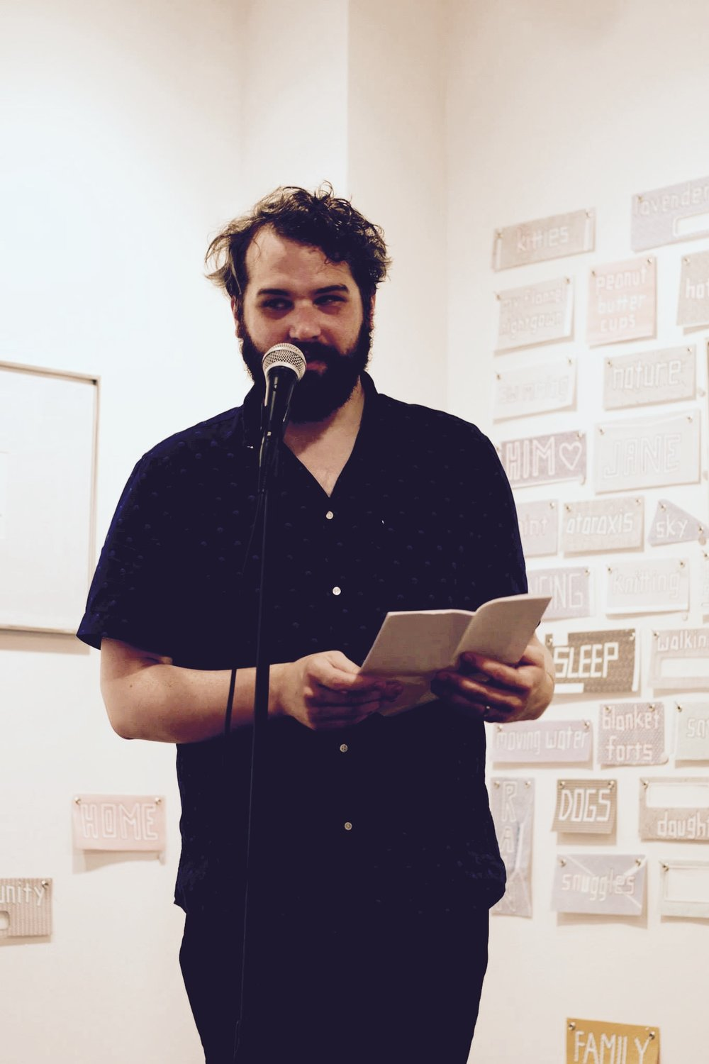 Patrick Blagrave kicking off the Copy/Body-Empty Set Press Launch Party @ Paradigm Gallery. 6/17/2017