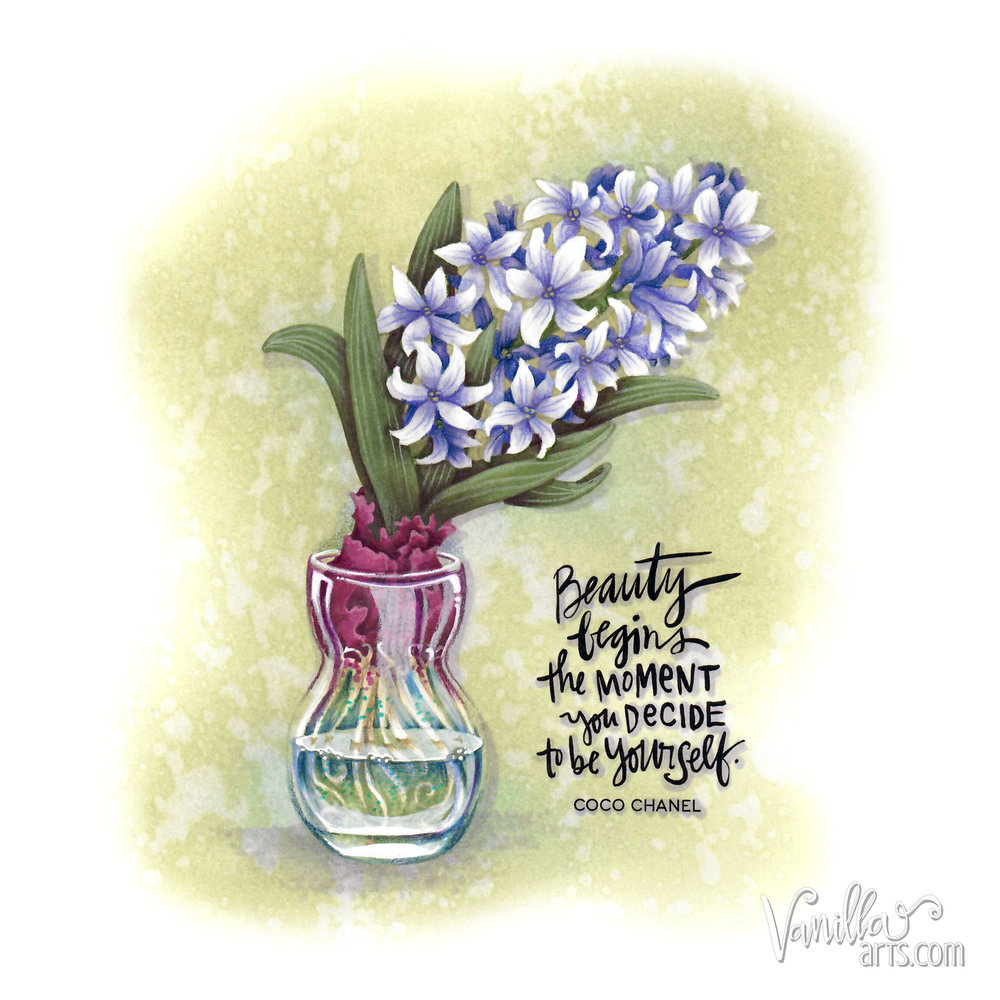 May 2018- Hyacinth Bulb in Glass