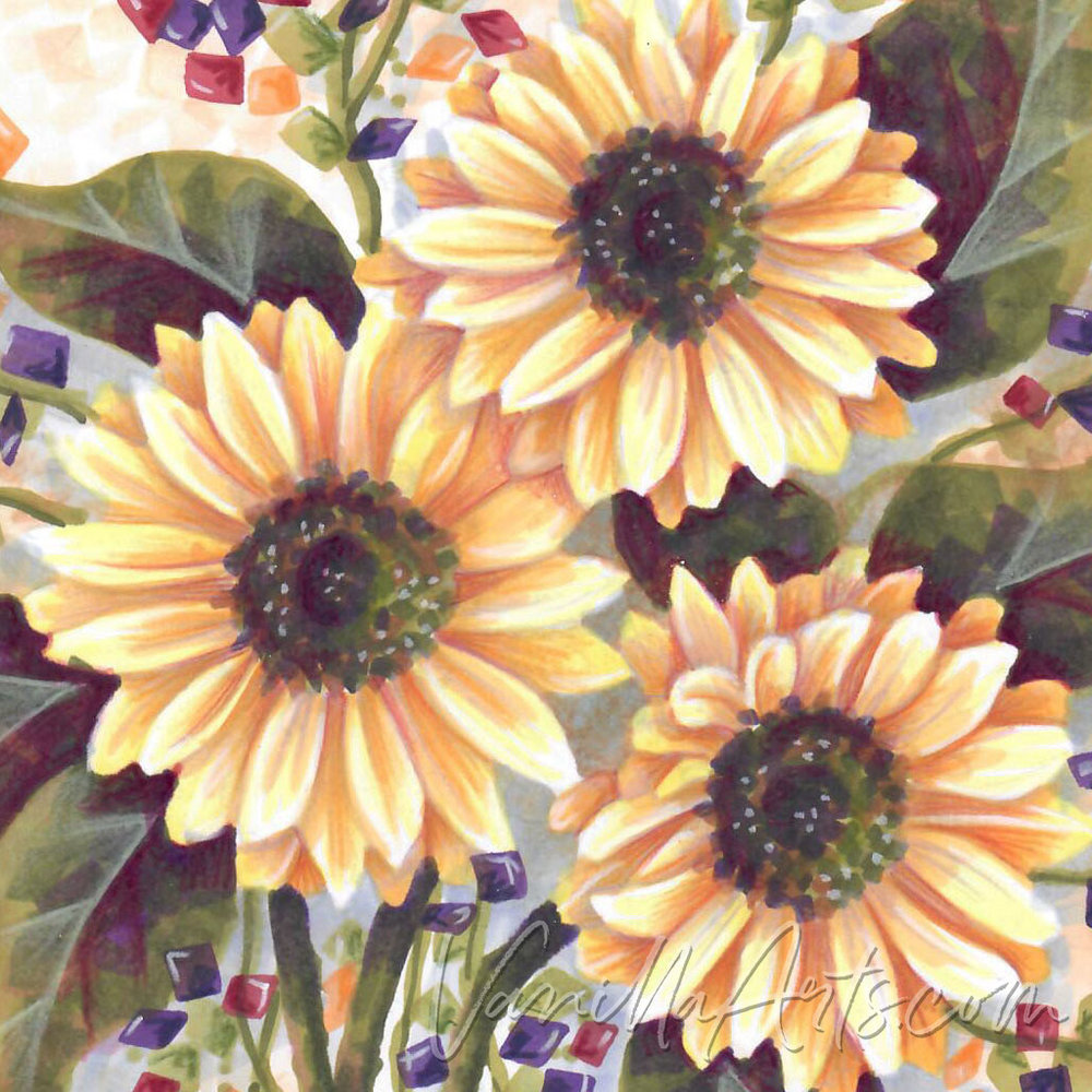 September 2018: Expressive Sunflowers