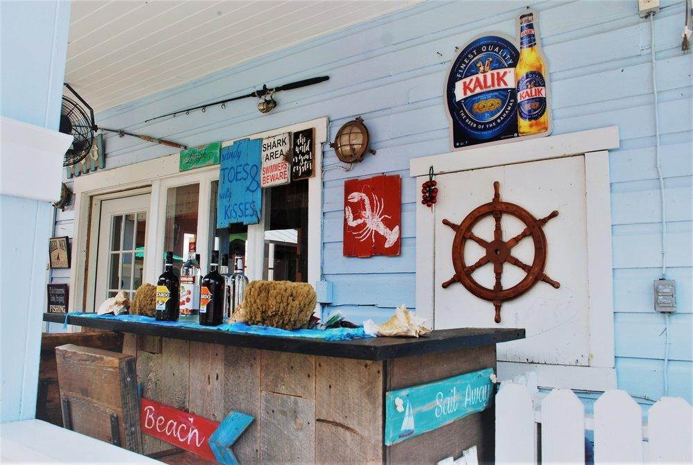 A charming bar at Port Lucaya