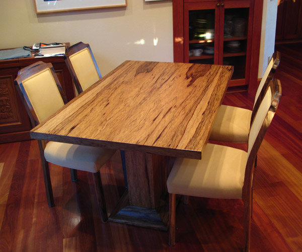 Black Limba Table and Chairs. 64 x 40 x 30