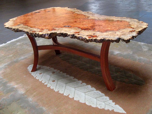 Bubinga Burl Coffee Table