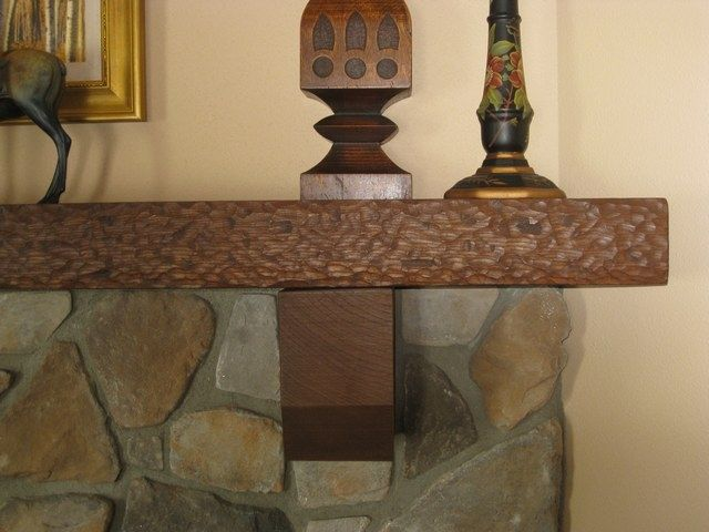 "Hand Carved Front Edge Mantels. 84"" long"