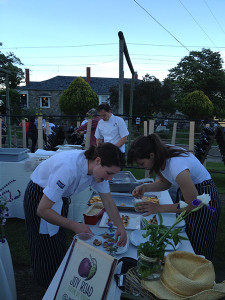 The opening party at See Ya Later Ranch was catered by Joy Road Catering. The food was creative and outstanding!
