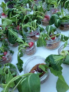 "Radishes in ""dirt"" by Joy Road Catering at the opening party at See Ya Later Ranch."