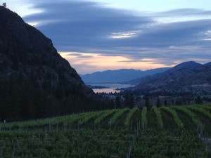 The incredible view from See Ya later Ranch, overlooking the Okanagan Valley and north to Skaha Lake.