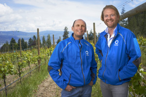 Okanagan Crush Pad chief winemaker Michael Bartier and Terry Threlfall