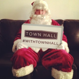 santa with Town Hall