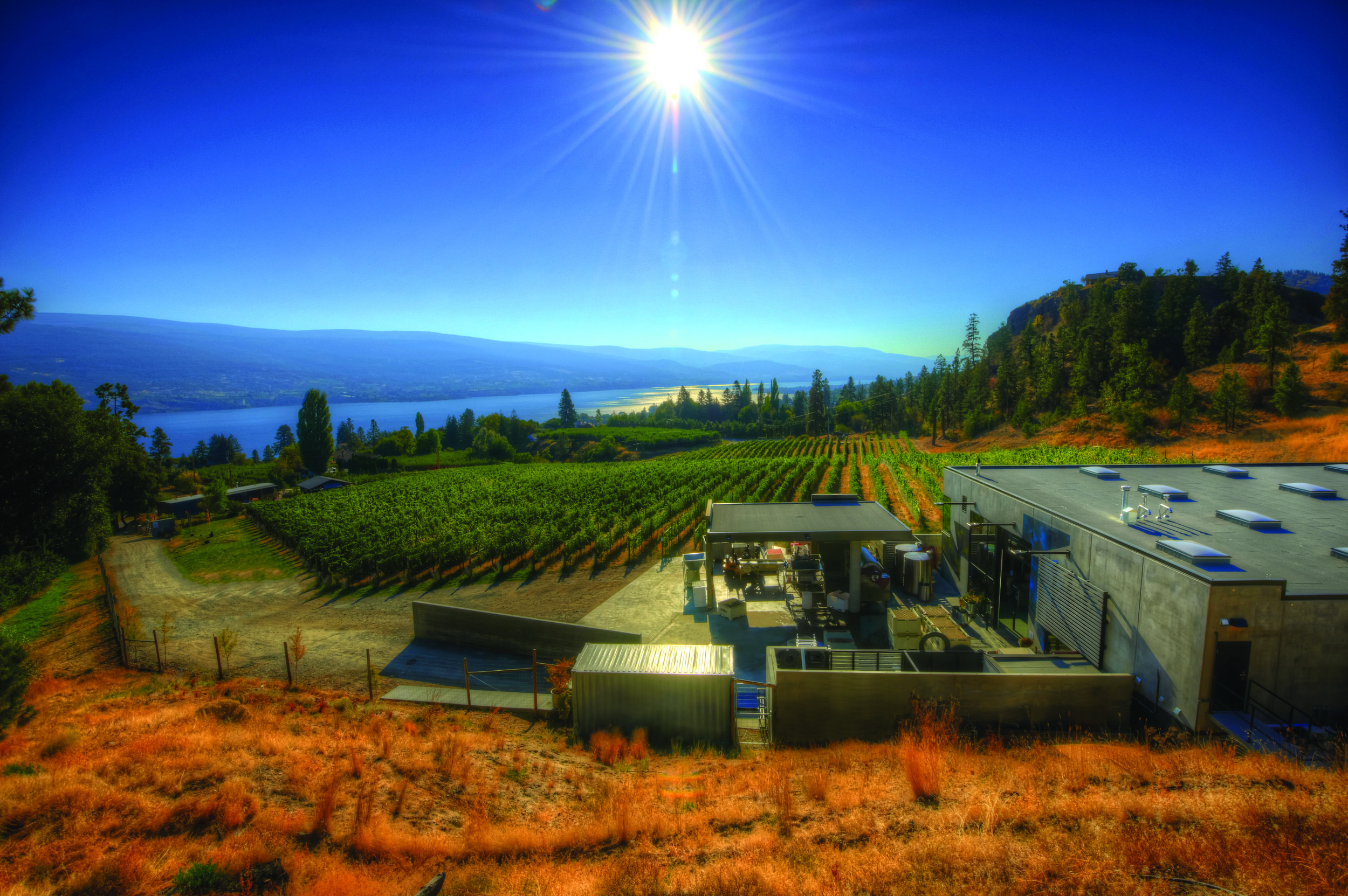 Okanagan Crush Pad, home of Haywire and Switchback Vineyard