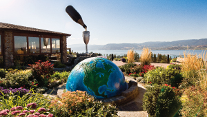 Summerhill Pyramid Winery's tasting room, overlooking Okanagan Lake