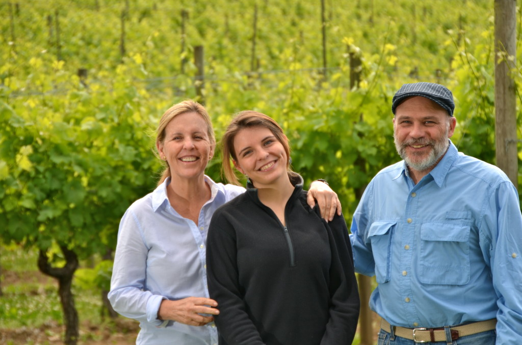 Cristina, Paula and Paul Brunner, owners of Blue Grouse Estate Winery