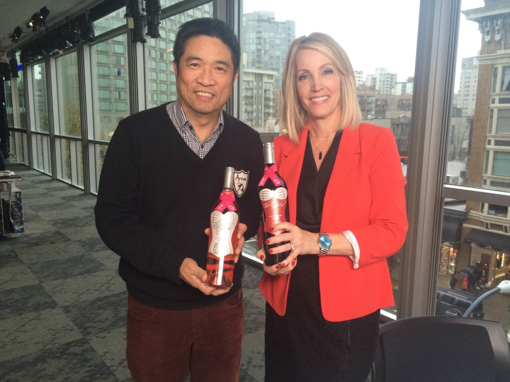 The Girls Wine founder Bill Lui and CTV's Lynda Steele