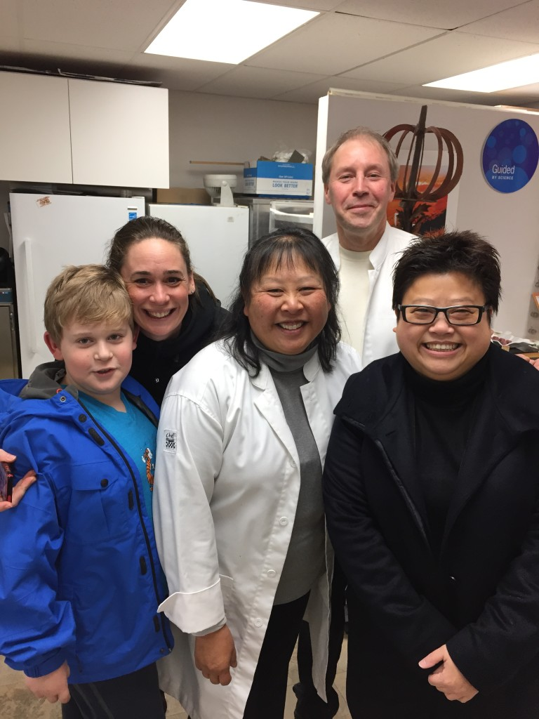 At the Atelier in Richmond, DC Duby's pop up retail space, Cindy and Dominique Duby (in the white coats) are joined by Michael, Rebecca Coleman, and Regina Chen