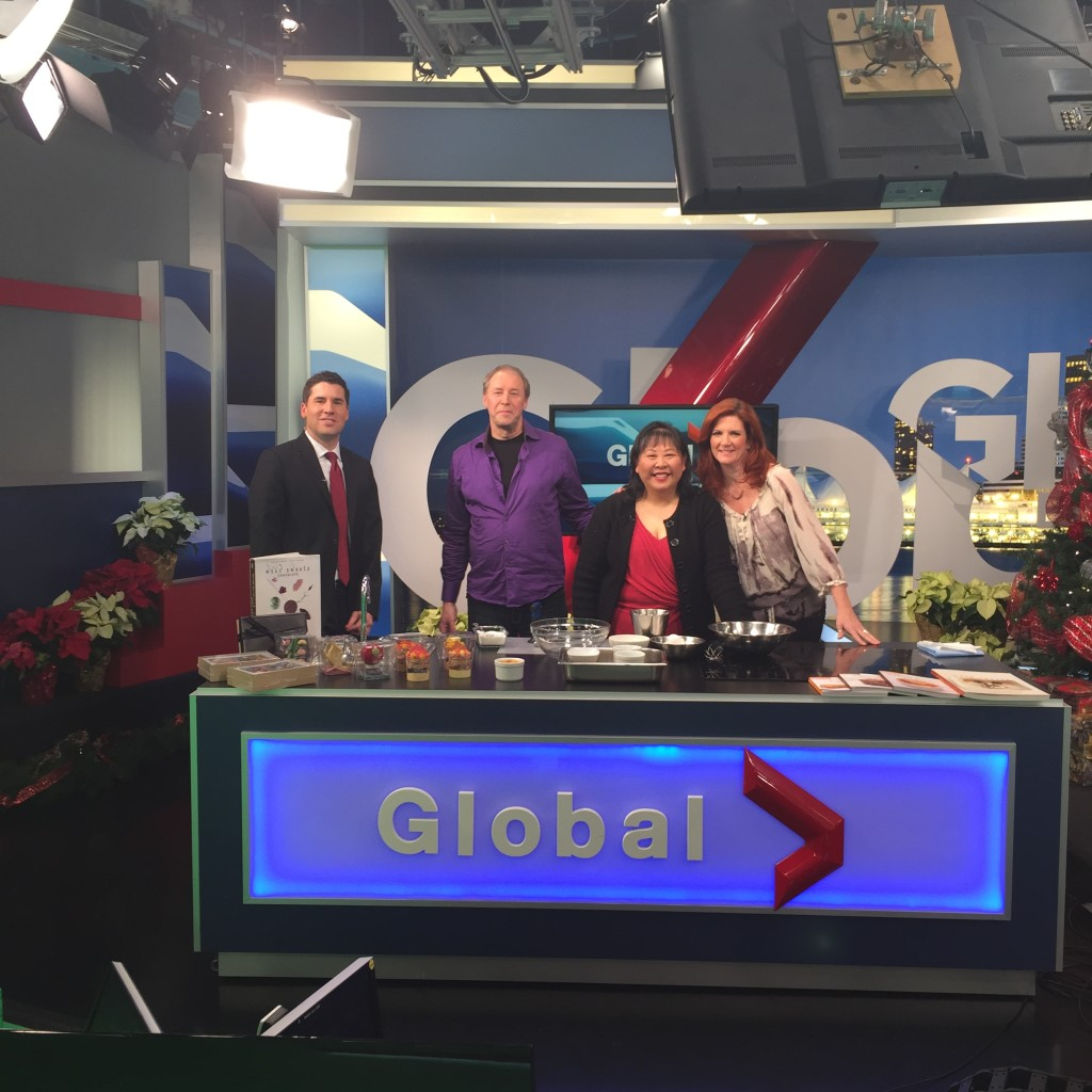 Dominique and Cindy make an appearance on Global TV to make creme brulée with Jay Durant and Lynn Colliar