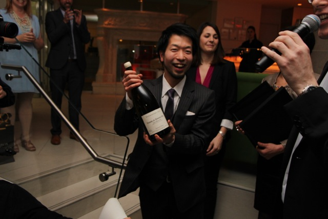 Roger Maniwa of Hawksworth is the winner of the Chablis wine pairing competition