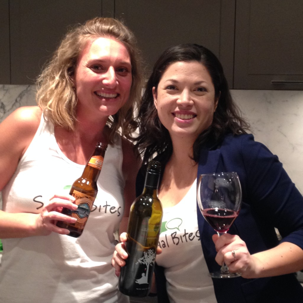 Annika Reinhardt and Crystal Henrickson of #dinnerpartyyvr